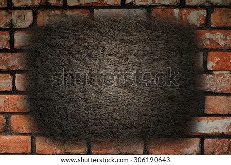 old brick Wall for text box - stock photo