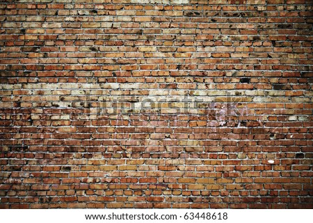 old brick wall texture - stock photo