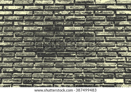 Old brick wall texture background.Used torn edges filter. - stock photo