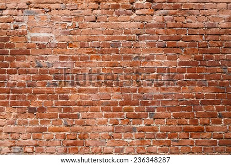 Old brick wall. Texture of old brickwork. - stock photo