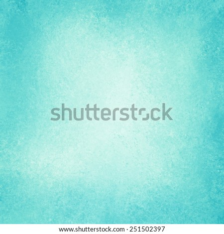 old bright blue paper background, off white vintage center with sky blue burnt edges or grunge border design, Easter background color with aged distressed texture and stains - stock photo