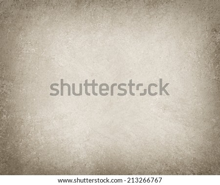 old brown background paper with white center and black vignette border with vintage grunge texture design - stock photo
