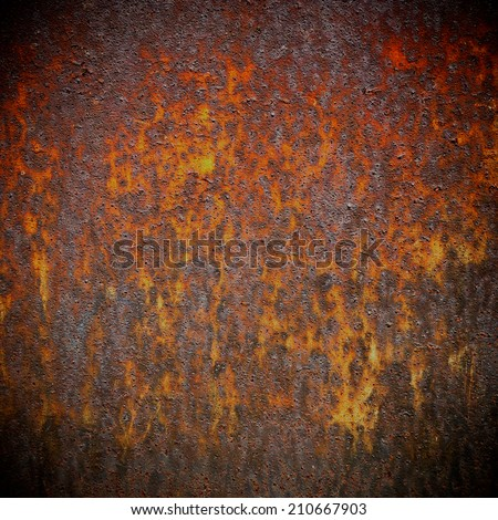 old brown background rusty metal texture - stock photo