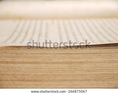 old brown book closeup - stock photo