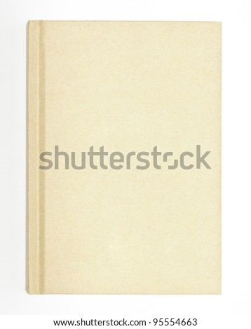 Old brown book on the white background - stock photo
