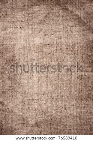 old brown canvas grunge texture as background - stock photo