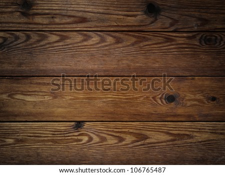 old brown natural wood background - stock photo