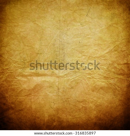 Old brown paper texture for background - stock photo