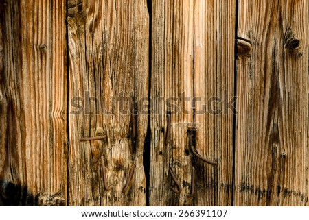 Old brown planks as background - stock photo