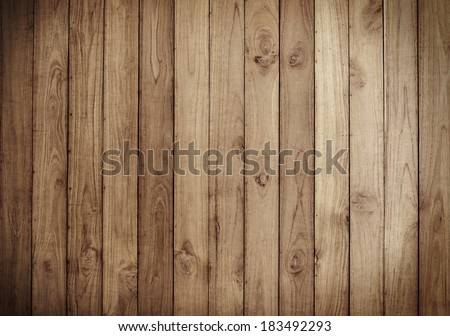 Old Brown wood plank wall texture background - stock photo
