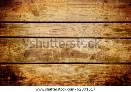 Old brown wooden planks background - stock photo