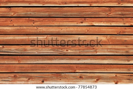 Old brown wooden wall surface texture - stock photo