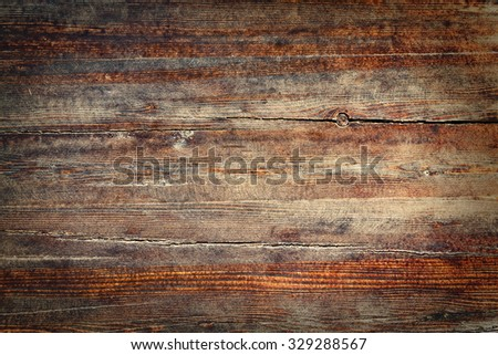 Old brown wooden wall texture for background - stock photo