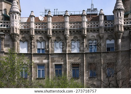 old building detail - stock photo