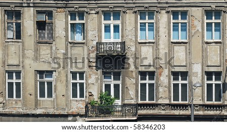 Old building, exterior - stock photo