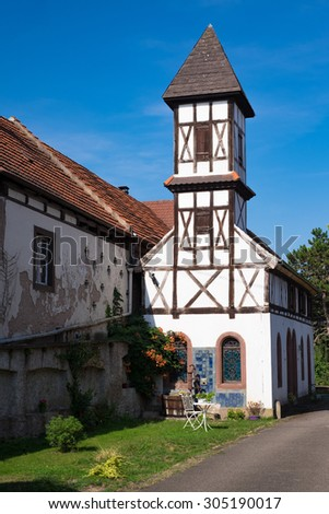Old building in Alsace - stock photo