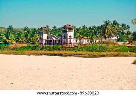 Old building in India - stock photo