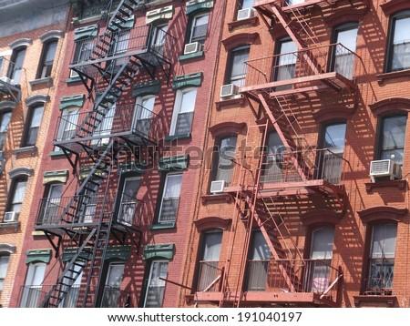 Old Building in Manhattan, New York - stock photo