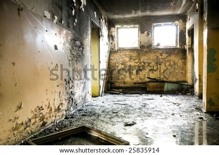 old building inside - stock photo
