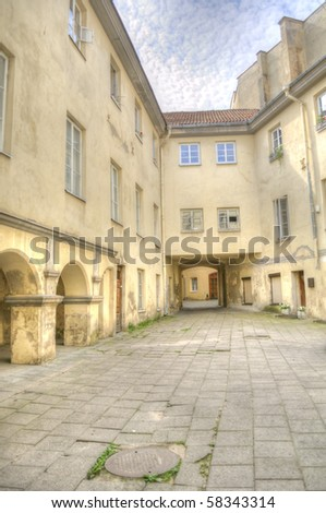 Old Building with Arches - stock photo