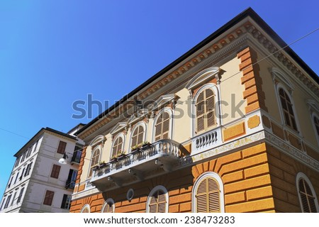 old buildings - stock photo