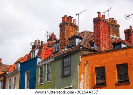 old buildings in Bristol, England - stock photo