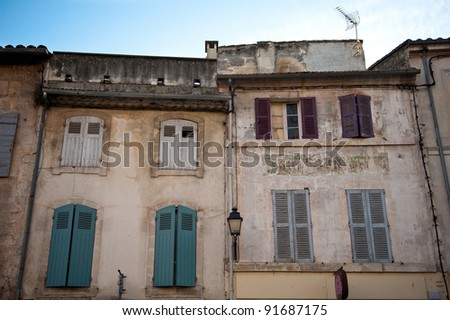 Old buildings in Provence, France - stock photo