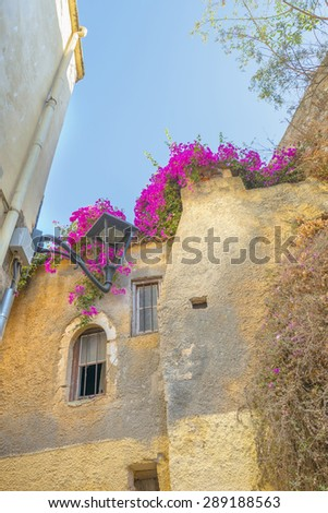Old buildings in the traditional city of Chania in Crete, Greece - stock photo