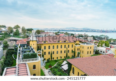 Old buildings of Istanbul. - stock photo