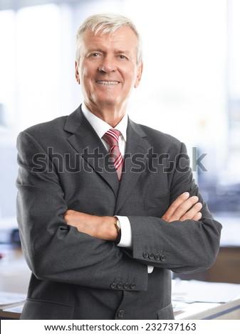 Old businessman portrait  - stock photo