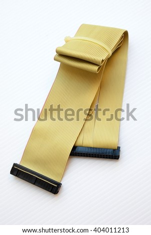 Old cable IDE for computer - stock photo