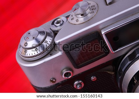 old camera. Camera Issue 40-60 years. - stock photo
