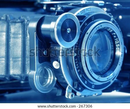 old camera model - stock photo