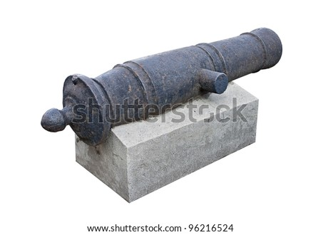 Old cannon on an exhibition in a museum - stock photo