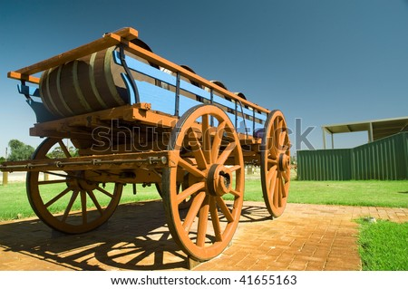 old carriage for wines - stock photo