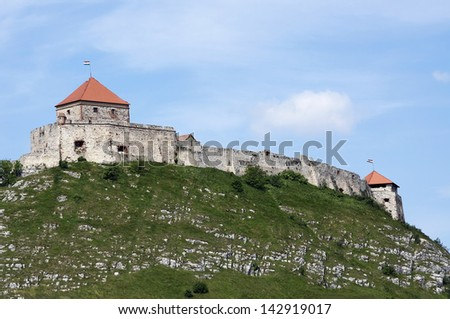 Old castle at Sumeg, Hungary - stock photo