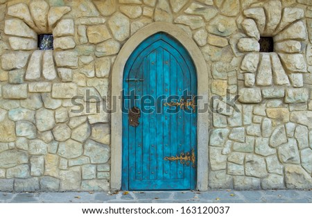 Old castle door design  - stock photo