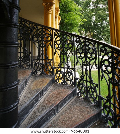 Old Castle Stairs - stock photo
