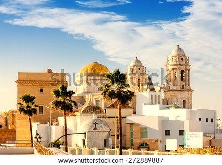 Old Cathedral. Cadiz, Spain - stock photo