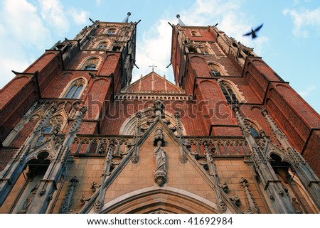 Old cathedral in Wroclaw - stock photo