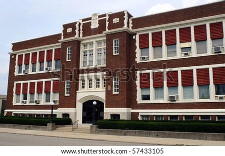 Old Catholic School - stock photo