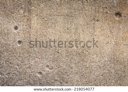 Old cement brick wall with blank space for text. - stock photo