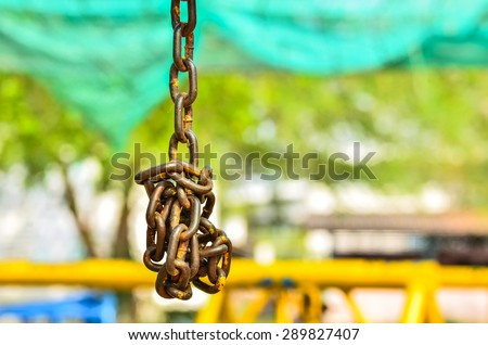 Old chain - stock photo