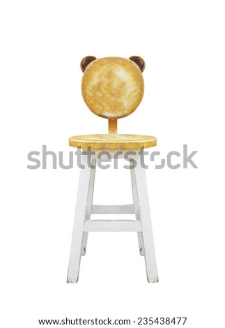Old chairs isolated on white background. - stock photo