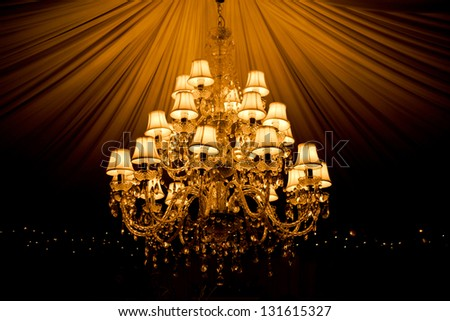Old chandelier - stock photo