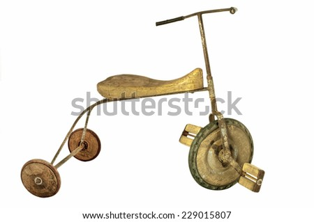 old child tricycle - stock photo