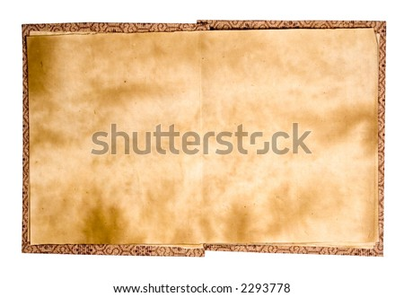 Old Chinese Book Red (Path Included) - stock photo