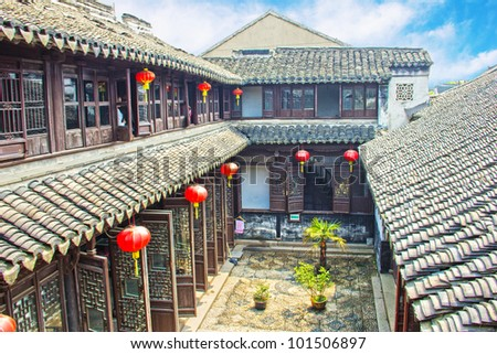 Old Chinese mansion - stock photo