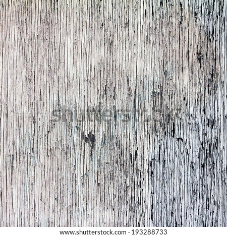 Old chipped white paint on wooden background - stock photo