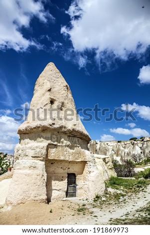 Old Christian church of Saint Nazar in Goreme, Cappadocia, Turkey - stock photo